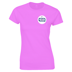 "Gildan Ladies Premium Cotton T-Shirt ""Take Steps To Be Free"" Yacht Sail Training"
