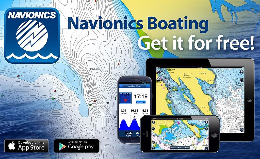 Navionics chartplotter app crew apps