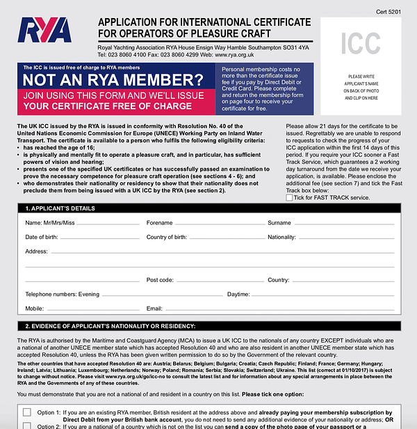ICC forms RYA sailing school