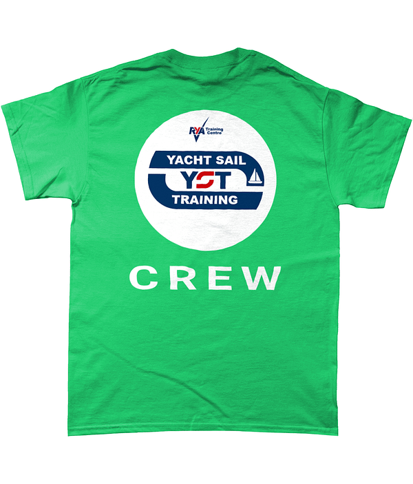 Heavy Cotton T-Shirt Yacht Sail Training CREW Top