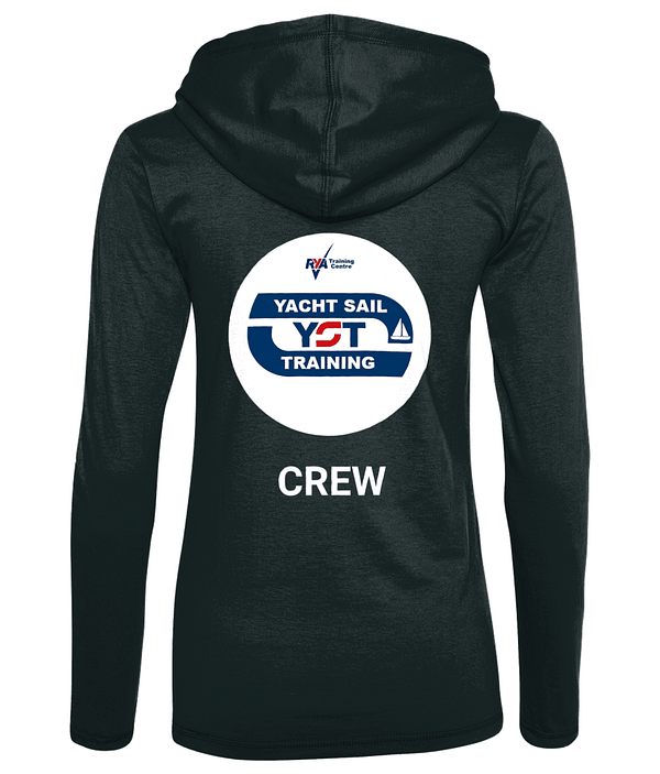 Ladies Long Sleeve Hooded T-Shirt Yacht Sail Training Crew T-Shirt