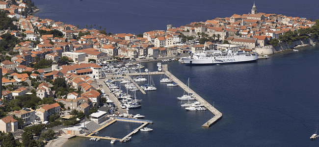 Ariel View of Korcula Marina