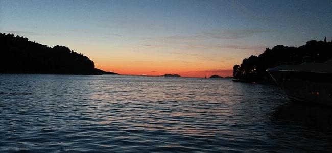 Sunset Over Cavtat Port