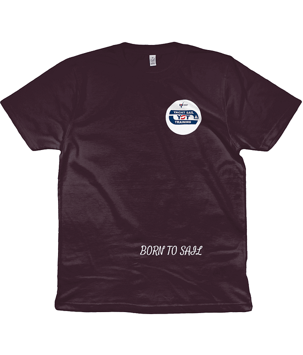 Men's/Unisex T-Shirt Born To Sail and The Ocean Is Where I Belong