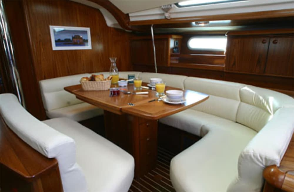 breakfast onboard sailing yacht