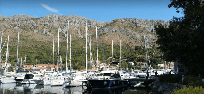 Sailing boats in dubrovnik marina korcula rya stop off point yachtmaster courses