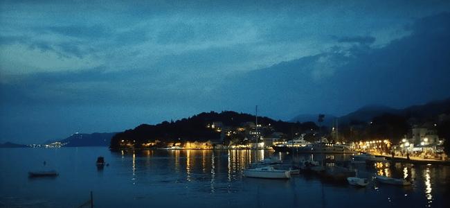 Nighttime in cavtat Port