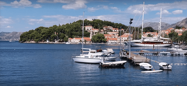 Cavtat At a Quiet Time Of Year Adriatic Coast