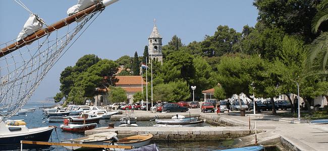 Boats Moored in Cavtat Port Croatia